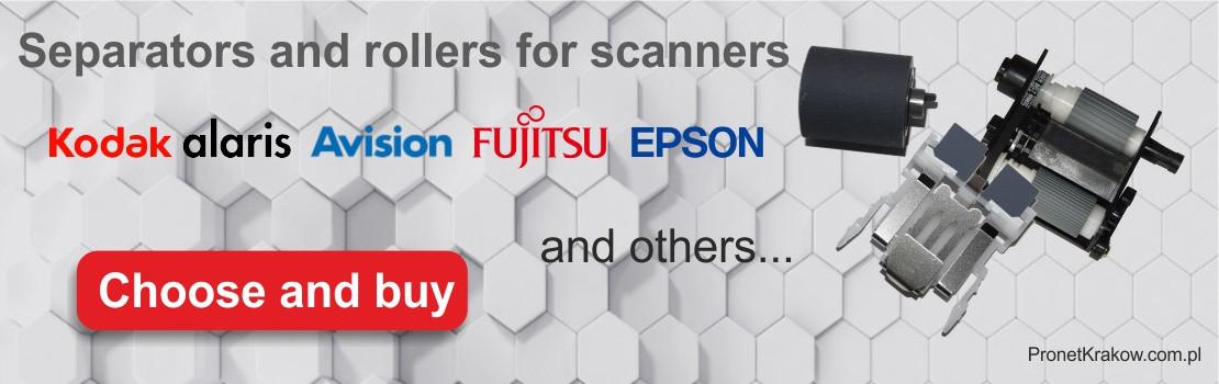 Separators and rollers for Kodak Avision Fujitsu Epson scanners