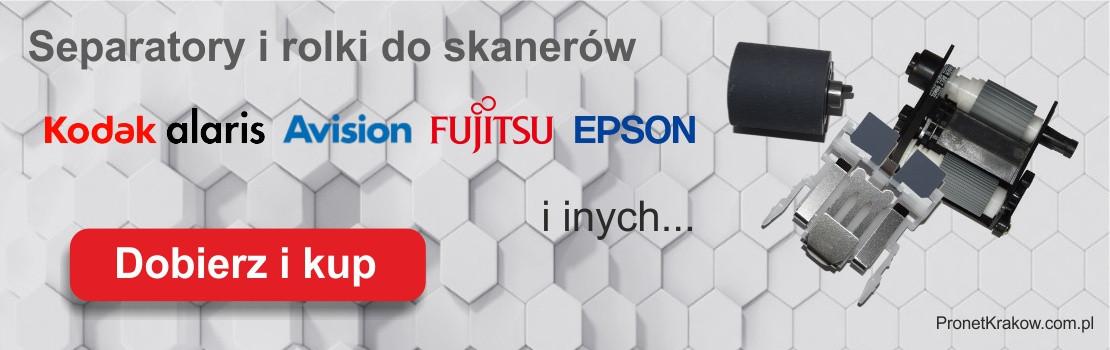 Separatory i rolki do skanerów Kodak Avision Fujitsu Epson